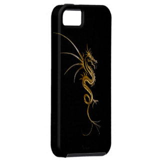 Tribal Gold Dragon Fantasy Art iPhone Case iPhone 5 Cover