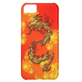 Tribal Gold Dragon & Fractals Art iPhone Case iPhone 5C Covers