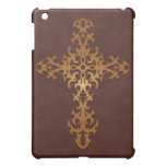 Tribal Gothic Cross – brown Case For The iPad Mini
