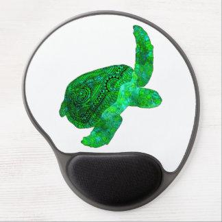 Tribal Green Sea Turtle Gel Mouse Pad
