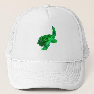 Tribal Green Sea Turtle Trucker Hat