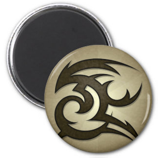 Tribal Gust Round Magnet