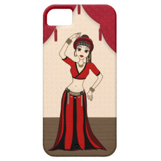 Tribal Gypsy Bellydancer in Red and Black Costume iPhone 5 Cases