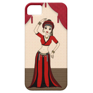 Tribal Gypsy Bellydancer in Red and Black Costume iPhone 5 Case