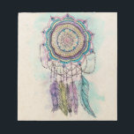 """tribal hand paint dreamcatcher mandala design notepad<br><div class=""""desc"""">Modern tribal hand paint dreamcatcher mandala design, elegant hand drawn flower, feathers, henna, mehndi floral, geometric, circle of flowers, shapes, lines, stripes, triangles, dots, art, paint, splatters, grunge, artwork, messy, craft, gold yellow, purple, blue, teal, hot pink, grey, black, white vibrant colors, unique, Aztec, traditional , cool, awesome, pretty, cute,...</div>"""