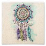 tribal hand paint dreamcatcher mandala design photo print