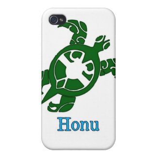 Tribal Hawaiian Green Sea Turtle on White iPhone 4/4S Case