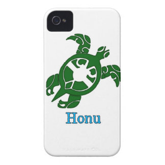 Tribal Hawaiian Green Sea Turtle on White iPhone 4 Case