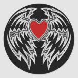 TRIBAL HEART AND WINGS STICKER