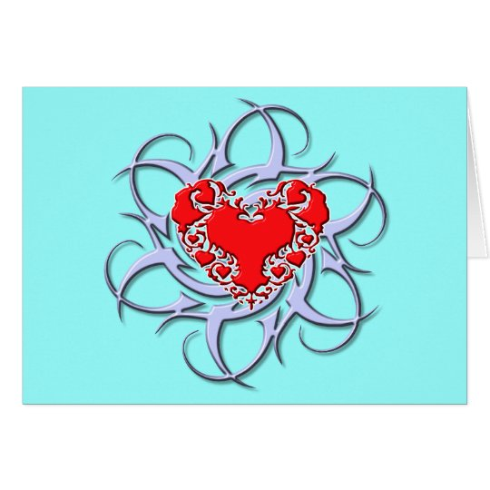 tribal heart card