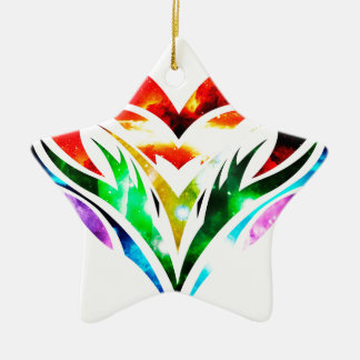 Tribal Heart Ceramic Ornament