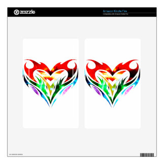 Tribal Heart Decal For Kindle Fire