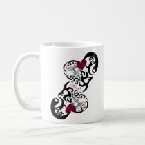 red, girl, illustration, pop, funny, cute, cool, vintage, heart, love, street, tribal, luv, graffiti, graphic, art, design, surfer, surfing, sweet, sweetheart, romance, pop art, Caneca com design gráfico personalizado