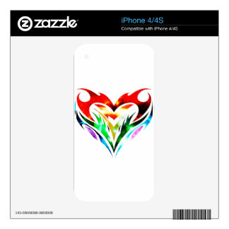 Tribal Heart iPhone 4 Skin