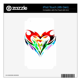Tribal Heart iPod Touch 4G Decals