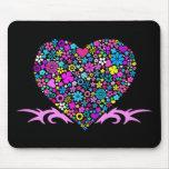 Tribal Heart Mousepad