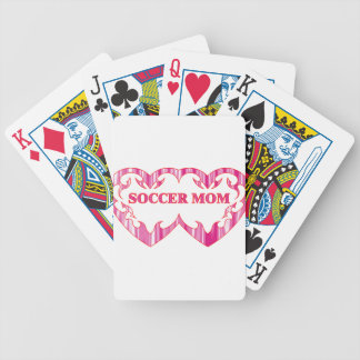 Tribal heart pair soccer mom bicycle playing cards