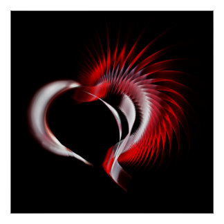 Tribal Heart Poster