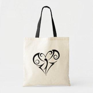Tribal Heart Shape Butterfly Bag