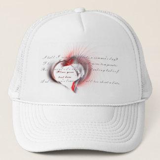 Tribal Heart with Shakespeare's sonnet 18 Trucker Hat