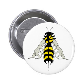 Tribal honey bee button