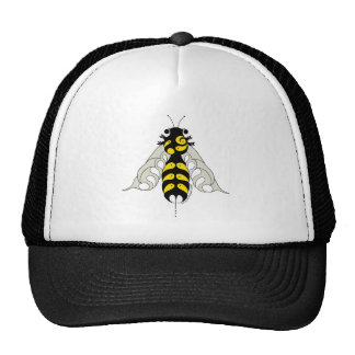 Tribal honey bee trucker hat