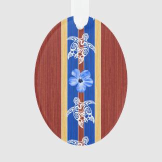 Tribal Honu Fake Wood Surfboard
