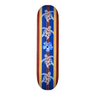 Tribal Honu Fake Wood Surfboard Skateboards