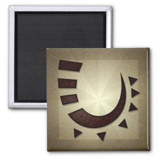 Tribal Hook Square Magnet