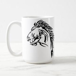 Tribal Horse Classic White Coffee Mug