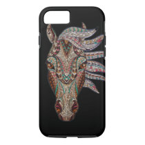 Tribal horse print on iPhone 7 case