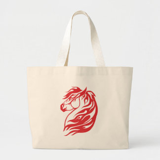 Tribal Horse Red Canvas Bags