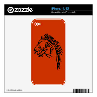 Tribal Horse Decals For The iPhone 4