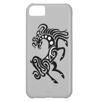 Tribal horse tattoo design case for iPhone 5C