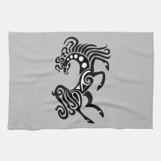 Tribal horse tattoo design hand towel