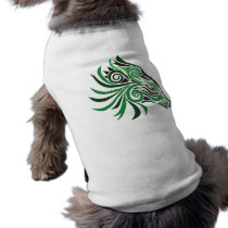 Tribal Horse Tattoo Green Black T-Shirt
