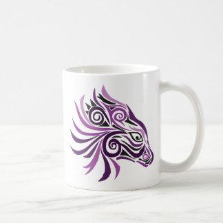 Tribal Horse Tattoo Purple Black Coffee Mug