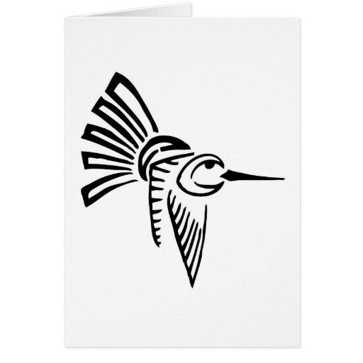 Tribal Hummingbird Greeting Card