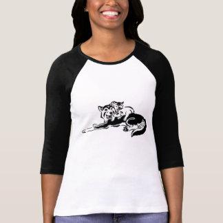 Tribal Husky Mom and Pups 3/4 Shirt