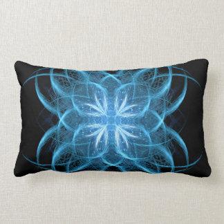 """Tribal Ice"" - Crystal Blue Fractal Art Pillow"