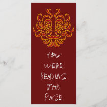 Tribal Idol Bookmark Template