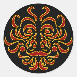 Tribal Idol Round Sticker