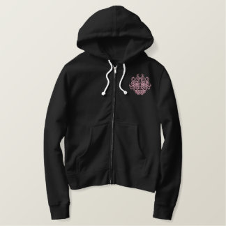 Tribal Idol Woman Embroidered Zip Hoodie