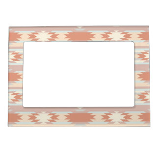 Tribal Ikat Aztec Andes patern Magnetic Frame
