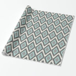 Tribal Ikat Chevron Gift Wrapping Paper