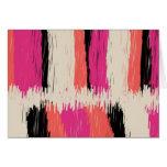 Tribal Ikat Stripe Art Card