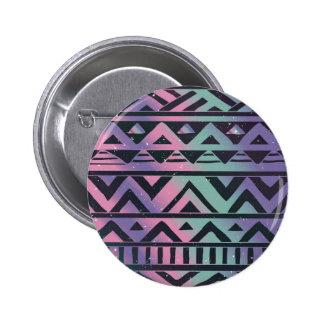 Tribal,ikat,teal,purple,chevron,black,zig zag,fun 2 inch round button