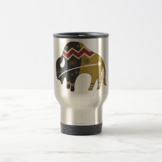 Tribal Indian Buffalo 15 Oz Stainless Steel Travel Mug
