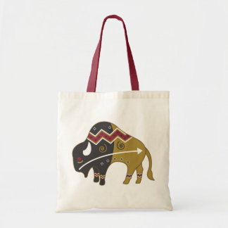 Tribal Indian Buffalo Tote Bag
