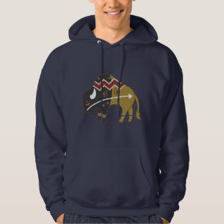 Tribal Indian Buffalo Hoodie